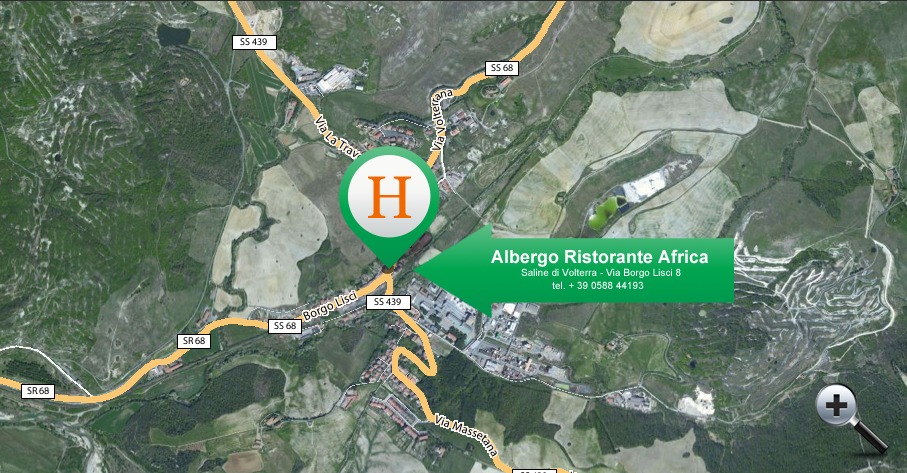 Enlarge the Map of Albergo Africa
